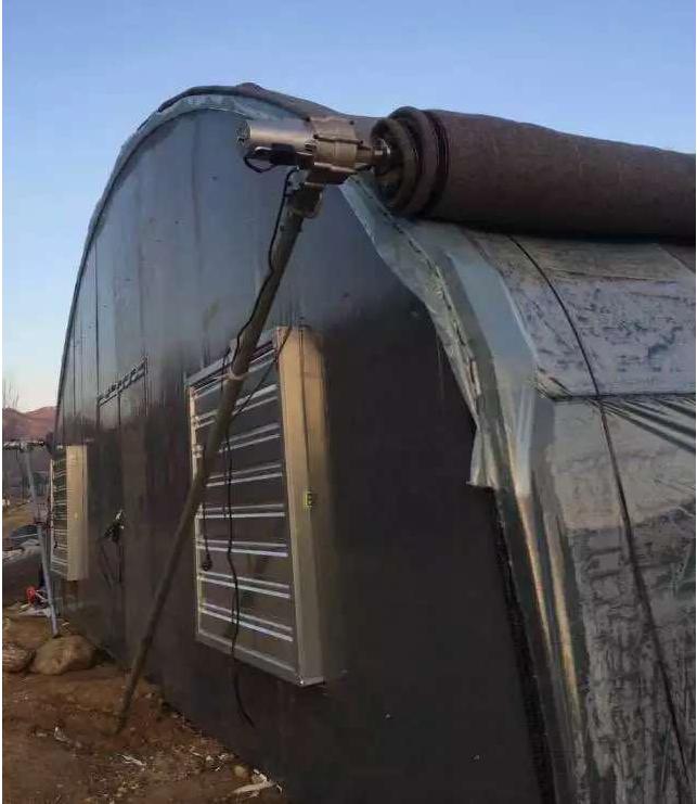 大棚卷簾機刹車系統在用前後一定潤滑